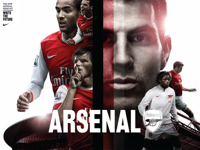 Arsenal's New Home Kit for the Season 2010-11